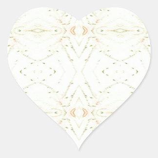 Light Airy White Yellow Background Pattern Heart Sticker