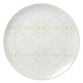 Light Airy White Yellow Background Pattern Plate