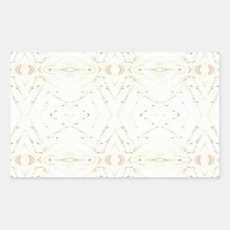 Light Airy White Yellow Background Pattern Rectangular Sticker
