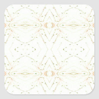 Light Airy White Yellow Background Pattern Square Sticker