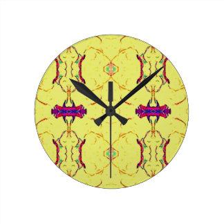 Light and Airy Modern Yellow Pattern. Clocks