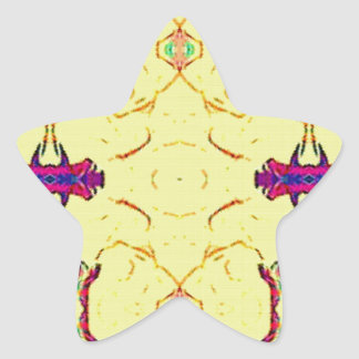 Light and Airy Modern Yellow Pattern. Star Sticker