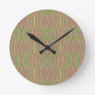 Light and Airy Personalizable Pastel Background Round Clock