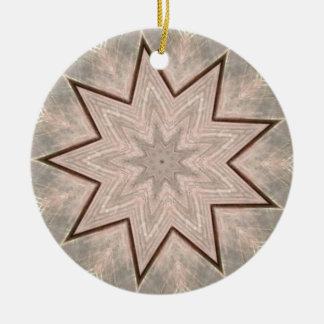 Light and Airy Soft Star Shaped Pattern Round Ceramic Decoration