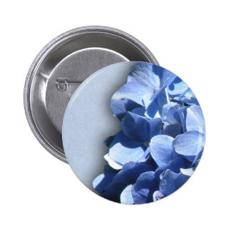 LIght and dark blue hydrangeas Buttons