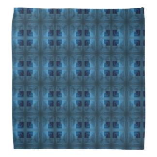 Light And Dark Blue Square Retro Pattern Kerchief