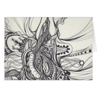 Light and Dark Doodle: Notecard