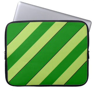 Light And Dark Green Stripes Laptop Sleeve