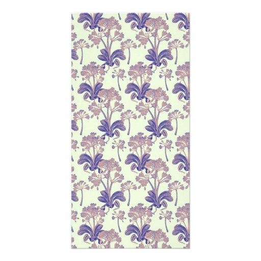 Light and Dark Purple Vintage Floral Photo Card Template