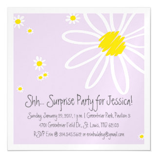 Light and Flowery One-Sided Magnetic Event Invite Magnetic Invitations
