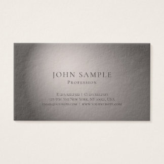 Light And Shadow Artistic Professional Luxury Business Card
