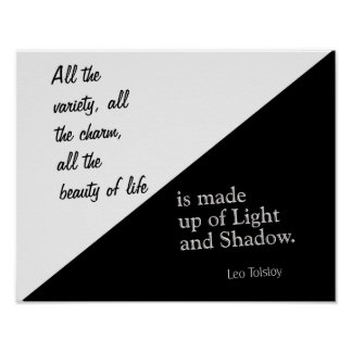 Light And Shadow - Leo Tolstoy - Art Print