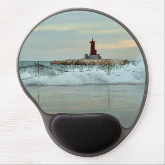 Light and surge in the port of Villajoyosa Gel Mouse Pad