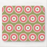 Light and Sweet Tan Coral Circle Pattern Mousepads