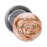 Light Apricot Save the Date Pin