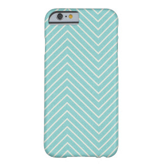 LIGHT AQUA BLUE WHITE ZIGZAG ILLUSIONS ZIG ZAG OPT BARELY THERE iPhone 6 CASE