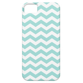 Light Aqua Chevron Stripes Pattern Barely There iPhone 5 Case