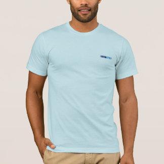 Light aqua t-shirt with abstract embellishment