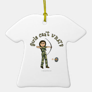 Light Archery in Camouflage Christmas Ornaments