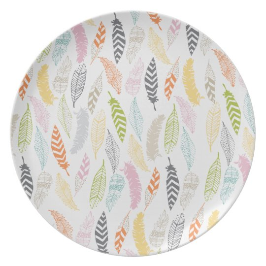 Light as a Feather by Origami Prints Party Plate
