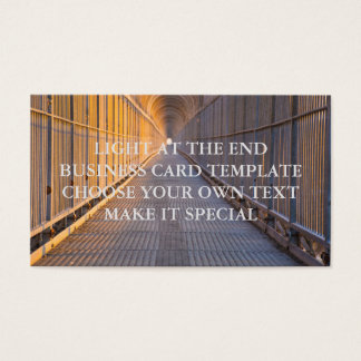 LIGHT AT THE END BUSINESS CARD TEMPLATE