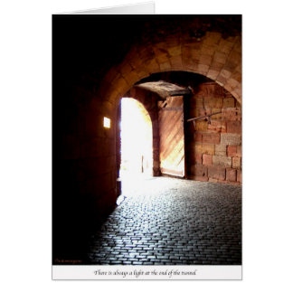 Light at the end of the tunnel card