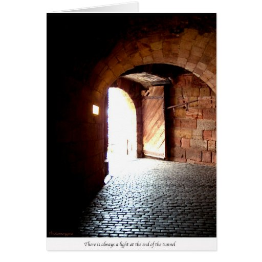 Light at the end of the tunnel cards