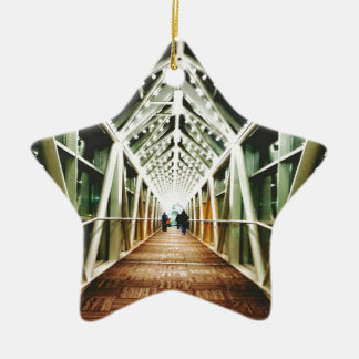 """Light At The End Of The Tunnel "" Ceramic Ornament"
