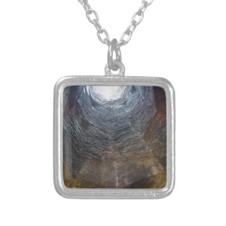 Light at the end of the tunnel . Hope concept Silver Plated Necklace