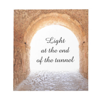 Light at the end of the tunnel notepad