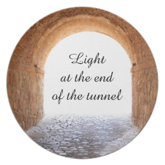 Light at the end of the tunnel plate