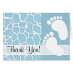 Light Baby Blue Giraffe Animal Print Note Card