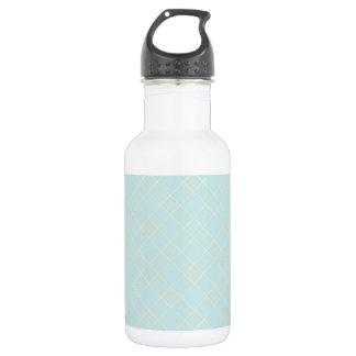 Light Baby Blue Plaid 532 Ml Water Bottle