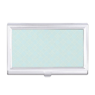 Light Baby Blue Plaid Case For Business Cards