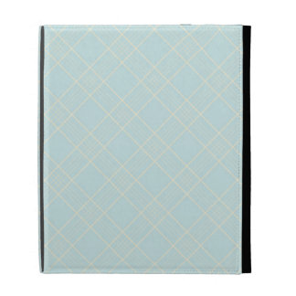 Light Baby Blue Plaid iPad Folio Case
