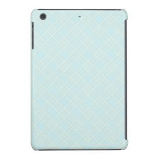 Light Baby Blue Plaid iPad Mini Covers