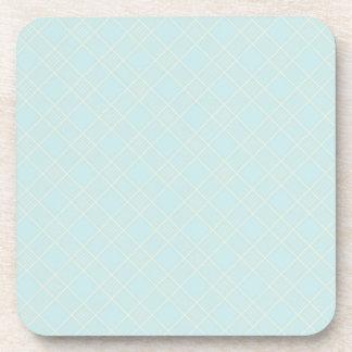 Light Baby Blue Plaid Drink Coasters