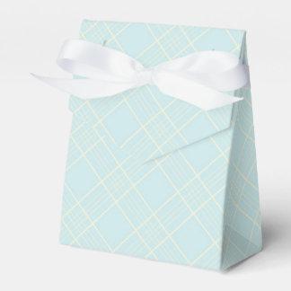 Light Baby Blue Plaid Favour Boxes