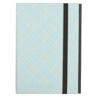 Light Baby Blue Plaid iPad Air Covers