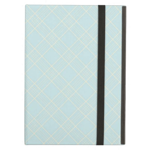 Light Baby Blue Plaid iPad Air Covers