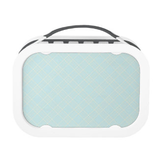 Light Baby Blue Plaid Lunchbox