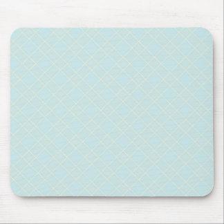 Light Baby Blue Plaid Mouse Pads