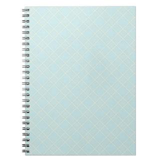 Light Baby Blue Plaid Spiral Notebook