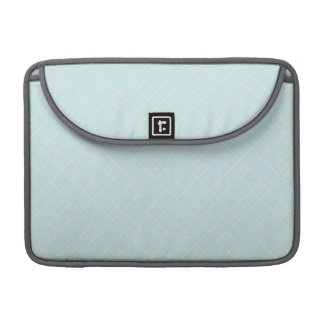 Light Baby Blue Plaid Sleeve For MacBooks