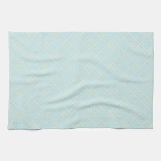 Light Baby Blue Plaid Kitchen Towels