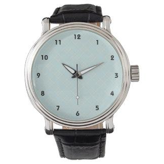 Light Baby Blue Plaid Watch