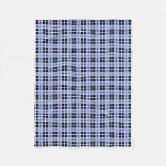 light baby boy pale blue white/black stripe fleece blanket