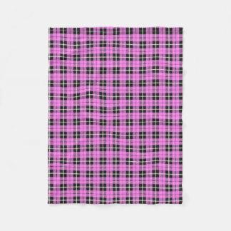 light baby girl pink white/black stripe fleece blanket