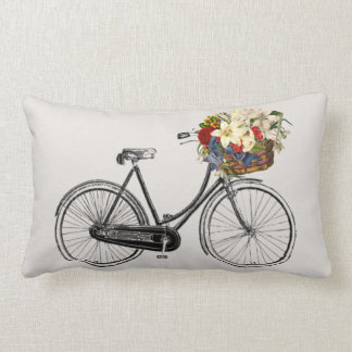 Light  bicycle flower   Throw pillow