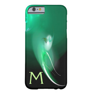 LIGHT BIRD / BLACK AND GREEN ABSTRACT MONOGRAM BARELY THERE iPhone 6 CASE